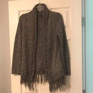 INC cardigan. gray with silver accents.  Sz M
